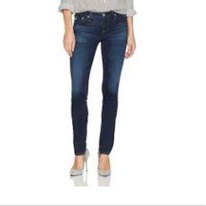 AG  Dark The Stilt Cigarette Skinny Jeans Sz 30
